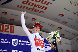 Liane Lippert (GER) retains the best young rider jersey at Stage 3 of 2020 Santos Women's Tour Down Under, a 109.1 km road race from Nairne to Stirling, Australia on January 18, 2020. Photo by Sean Robinson/velofocus.com