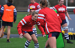 Becky Hughes of Bristol Bears Women during warm-up - Mandatory by-line: Paul Knight/JMP - 01/12/2018 - RUGBY - Shaftesbury Park - Bristol, England - Bristol Bears Women v Harlequins Ladies - Tyrrells Premier 15s