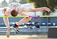 Big West Championships Track and Field men's high jump event at Cal State Fullerton in Fullerton, CA on Friday May 5, 2017.<br /> Photo by Samuel Navarro / Sports Shooter Academy
