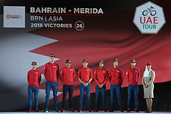 February 23, 2019 - Abu Dhabi, United Arab Emirates - Team Bahrain - Merida from Bahrain, during the Team Presentation, at the opening ceremony of the 1st UAE Tour, inside Louvre Abu Dhabi museum..On Saturday, February 23, 2019, Abu Dhabi, United Arab Emirates. (Credit Image: © Artur Widak/NurPhoto via ZUMA Press)