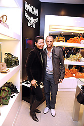 Choreographer BRIAN FRIEDMAN and SUNG-JOO KIM ceo of MCM at the MCM Christmas party held at their store at 5 Sloane Street, London on 26th November 2008.