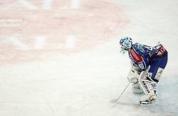 10.01.2012, Arena Zagreb, CRO, EBEL, Medvescak KHL Zagreb vs Sapa Fehervar AV19, im Bild Michael Ouzasduring the ice-hockey match of EBEL League between KHL Medvescak Zagreb and Sapa Fehervar AV19, at Arena Zagreb, Zagreb, Croatia on 2011/01/10. EXPA Pictures © 2012, PhotoCredit: EXPA/ nph/ Pixsell/ Kraj..***** ATTENTION - OUT OF GER, CRO *****