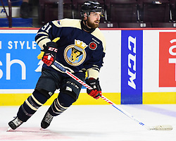 Aaron Luchuk of the Windsor Spitfires in the opening game of the 2017 MasterCard Memorial Cup against the Saint John Sea Dogs at the WFCU Centre in Windsor, ON on Friday May 19, 2017. Photo by Aaron Bell/CHL Images