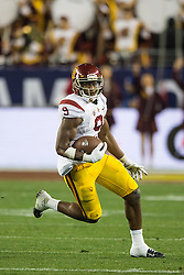 SANTA CLARA, CA - DECEMBER 05:  Wide receiver JuJu Smith-Schuster #9 of the USC Trojans rushes up field against the Stanford Cardinal during the fourth quarter of the Pac-12 Championship game at Levi's Stadium on December 5, 2015 in Santa Clara, California. The Stanford Cardinal defeated the USC Trojans 41-22. (Photo by Jason O. Watson/Getty Images) *** Local Caption *** JuJu Smith-Schuster
