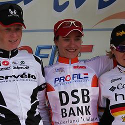 Ladiestour 2009 Limburg <br /> Eindwinnares Marianne Vos, Kirsten WIld, Ina Yoko Teutenberg