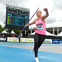 adidas Grand Prix Diamond League professional track & field meet: womens javelin throw, Leigh PETRANOFF, USA