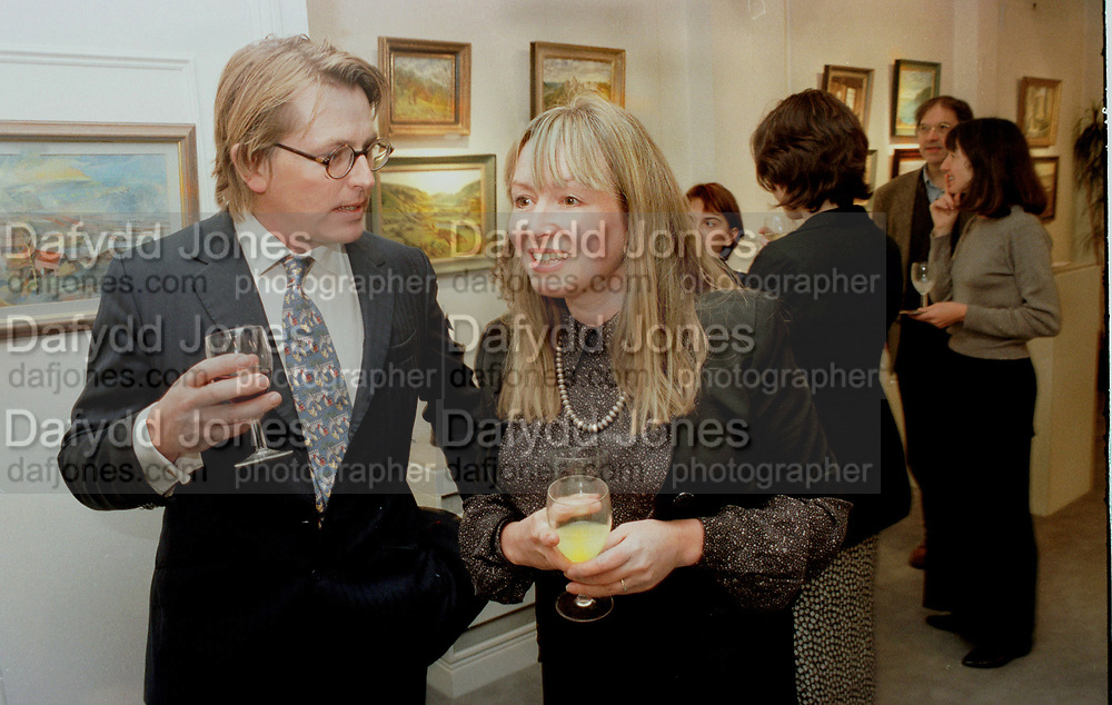 Giles Wood & Mary Killen at their party to launch Mary's book and an exhibition of Giles's paintings.. London 1996<br /> © Copyright Photograph by Dafydd Jones<br /> 66 Stockwell Park Rd. London SW9 0DA<br /> Tel 0171 733 0108