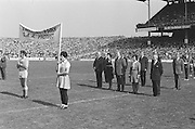 Officials stand for national anthem before at the All Ireland Senior Hurling Final, Cork v Kilkenny in Croke Park on the 3rd September 1972. Kilkenny 3-24, Cork 5-11.<br />