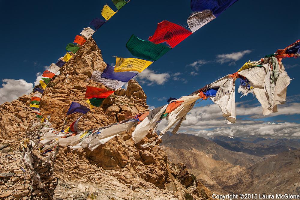 Tibetan Buddhist Prayer Flags in the Himalaya, India