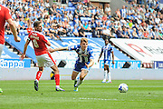 Wigan Midfielder Max Power  during the Sky Bet League 1 match between Wigan Athletic and Barnsley at the DW Stadium, Wigan, England on 8 May 2016. Photo by John Marfleet.