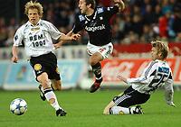 Fotball Tipeligaen Rosenborg ( RBK ) - Odd Grenland 6-0<br /> Ørjan Berg, Espen Hoff og Bjørn Tore Kvarme<br /> Foto: Carl-Erik Eriksson, Digitalsport