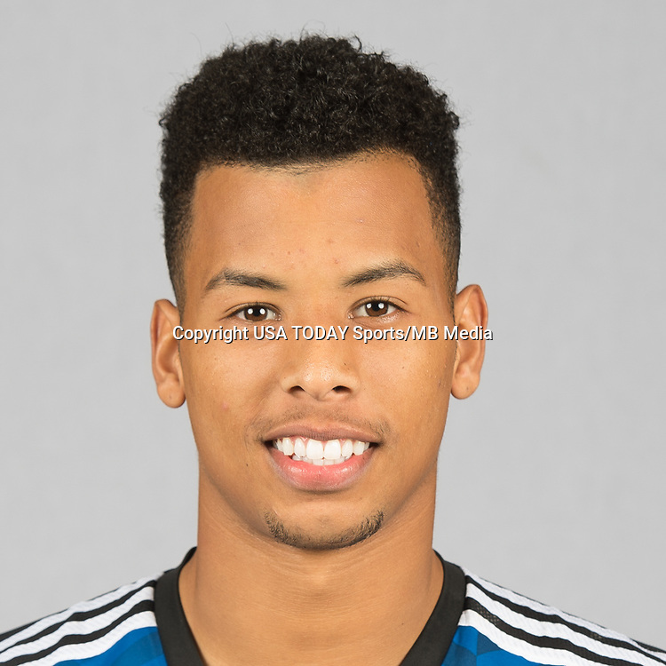 Feb 25, 2016; USA; San Jose Earthquakes player Matheus Silva poses for a photo. Mandatory Credit: USA TODAY Sports