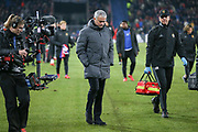 Manchester United Manager Jose Mourinho walks off at half time during the Champions League match between FC Basel and Manchester United at St Jacob-Park, Basel, Switzerland on 22 November 2017. Photo by Phil Duncan.