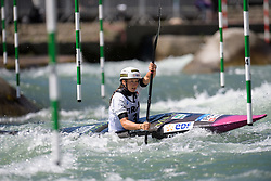 Camille PRIGENT of France during the Canoe Single (WK1) Womens Semi Final race of 2019 ICF Canoe Slalom World Cup 4, on June 28, 2019 in Tacen, Ljubljana, Slovenia. Photo by Sasa Pahic Szabo / Sportida