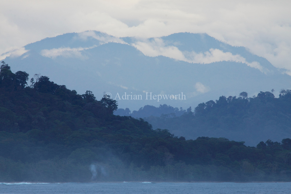 Mountains behind Punta Uva, south caribbean coast, Costa Rica. February 2011. <br />