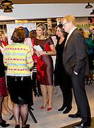 UTRECHT - Queen Maxima of The Netherlands attend the network meeting for female entrepreneurs &lsquo;Guts and Glory&rsquo; at the Beatrixtheater in Utrecht, The Netherlands, 14 April 2015. The meeting focus on the development of female entrepreneurs and business managers, the meeting is an part of the Week of the Entrepreneur. Theme of the meeting is stimulating female leadership and the need of personal growth. COPYRIGHT OBIN UTRECHT<br /> 14-4-2015 - UTRECHT Koningin M&aacute;xima bezoekt dinsdagmiddag 14 april in het Beatrix Theater in Utrecht de netwerkbijeenkomst &lsquo;Guts &amp; Glory&rsquo; van Vrouwennetwerk VNO-NCW West, VNO-NCW en MKB-Nederland. De bijeenkomst richt zich op de ontwikkeling van vrouwelijke ondernemers en managers uit het bedrijfsleven en maakt deel uit van het programma van de Week van de Ondernemer. Deze wordt van maandag 13 tot en met donderdag 16 april in het Beatrix Theater gehouden COPYRIGHT ROBIN UTRECHT