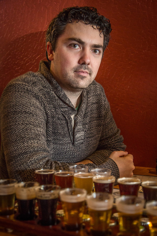 Chemical engineer Chris Brooks samples beer at the Russian River Brewery in downtown Santa Rosa, CA