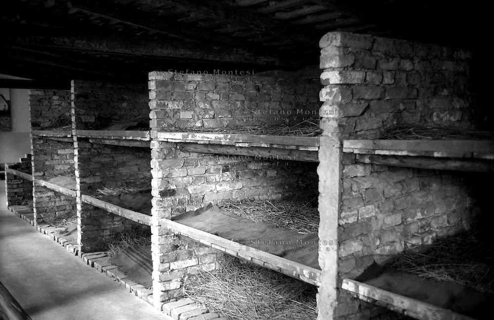 Auschwitz, former Nazi death camp, in Oswiecim, Poland's Nazi-era concentration camp..Dormitory.