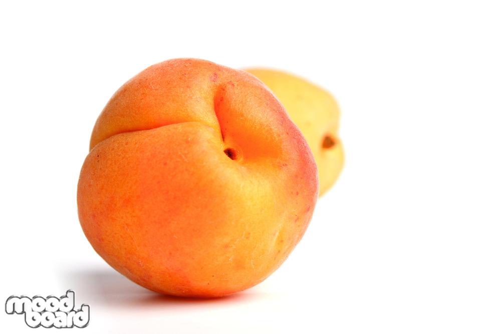 Studio shot of apricot on white background