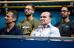 Đenio Zadković, mayor of Piran at Trophy ceremony after the Final match at Day 10 of ATP Challenger Zavarovalnica Sava Slovenia Open 2019, on August 18, 2019 in Sports centre, Portoroz/Portorose, Slovenia. Photo by Vid Ponikvar / Sportida