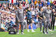 Marcelo Bielsa of Leeds United (Manager) during the EFL Sky Bet Championship match between Leeds United and Swansea City at Elland Road, Leeds, England on 31 August 2019.