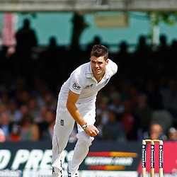16/08/2012 London, England. England's James Anderson bowling during the third Investec cricket international test match between England and South Africa, played at the Lords Cricket Ground: Mandatory credit: Mitchell Gunn