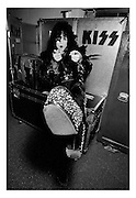 Photo of Paul Stanley from the band Kiss backstage in Rome 1980