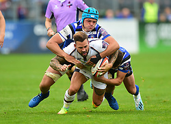 Francois Hougaard of Worcester Warriors - Mandatory by-line: Alex James/JMP - 28/09/2019 - RUGBY - Recreation Ground - Bath, England - Bath Rugby v Worcester Warriors - Premiership Rugby Cup