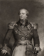 Archibald Campbell (1769-1843) British career soldier. Colonel 1814; Major-general 1825; Lieutenant-general 1838. Served in India 1788-1799, and in Peninsular campaign in Napoleonic Wars. Conducted war in Burma: Governor-general British Burma 1826-1829. Engraving.