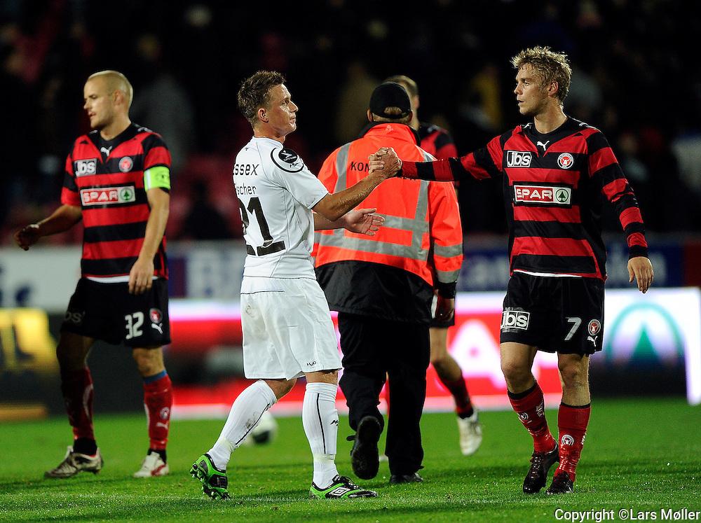 DK:<br /> 20100913, Herning, Danmark:<br /> Fodbold Superliga FC Midtjylland - Randers FC: <br /> Alexander Fischer, Randers FC., Ken Ils&oslash;, FC Midtjylland (7)<br /> Foto: Lars M&oslash;ller<br /> UK: <br /> 20100913, Herning, Danmark:<br /> Football Superleague FC Midtjylland - Randers FC: <br /> Alexander Fischer, Randers FC., Ken Ils&oslash;, FC Midtjylland (7)<br /> Photo: Lars Moeller
