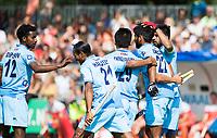 WAALWIJK -  RABO SUPER SERIE. India heeft gescoord  tijdens  de hockeyinterland heren  Nederland-India,  ter voorbereiding van het EK,  dat vrijdag 18/8 begint.  COPYRIGHT KOEN SUYK