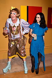 Grayson Perry and Tamara Rojo at the Royal Academy of Arts Summer Exhibition Preview Party 2017, Burlington House, London England. 7 June 2017.