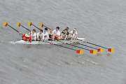 Chiswick, London, GREAT BRITAIN,  Tideway Scullers School 3, starting the the race, looking from Chiswick Bridge. 2011 Head of the River Race. Mortlake to Putney,  Championship Course River Thames on Saturday  02/04/2011  [Mandatory Credit, Peter Spurrier/Intersport-images]