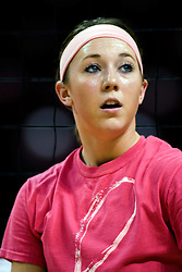 13 October 2012: Kaitlyn Early during an NCAA volleyball game between the Drake Bulldogs and the Illinois State Redbirds.  The Redbirds won the match in 3 straight sets at Redbird Arena in Normal Illinois