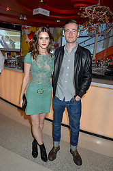 SAI BENNETT and SAM DOYLE at the OMEGA 100 days to Rio Olympics VIP Dinner at Sushi Samba, Heron Tower, 110 Bishopsgate, City of London on 27th April 2016.