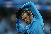 Real Madrid midfielder Gareth Bale (11)  during the Champions League match between Manchester City and Real Madrid at the Etihad Stadium, Manchester, England on 26 April 2016. Photo by Simon Davies.