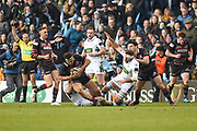 Stuart McInally on the ball during the Guinness Pro 14 2017_18 match between Edinburgh Rugby and Glasgow Warriors at Myreside Stadium, Edinburgh, Scotland on 28 April 2018. Picture by Kevin Murray.
