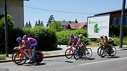 Cyclists during warm-up at prologue (17,8km) of Tour de Slovenie 2012, on June 17 2012, in Ljubljana, Slovenia. (Photo by Matic Klansek Velej / Sportida.com)
