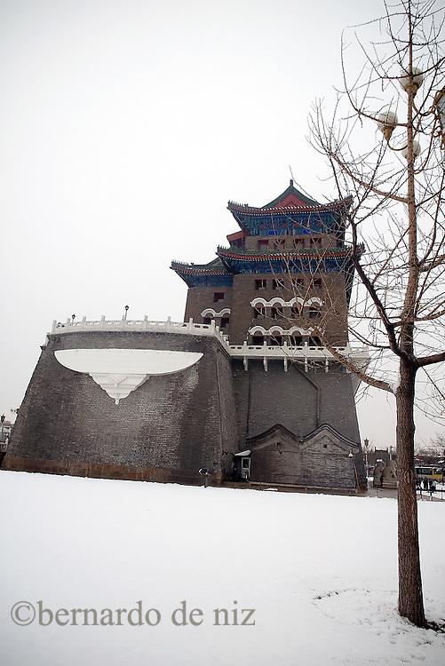 Imágenes cotidianas de invierno de Beijing.  Beijing, China. 2007. Fotos: Bernardo De Niz