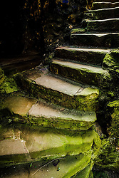 A staircase in Dirleton Castle, a ruined medieval fortress in the village of Dirleton, East Lothian, Scotland.<br /> <br /> (c) Andrew Wilson | Edinburgh Elite media