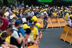 Jasper Stuyven (BEL) of Trek - Segafredo (USA,WT,Trek) during stage 2 TTT from Bruxelles to Brussel of the 106th Tour de France, 7 July 2019. Photo by Pim Nijland / PelotonPhotos.com   All photos usage must carry mandatory copyright credit (Peloton Photos   Pim Nijland)