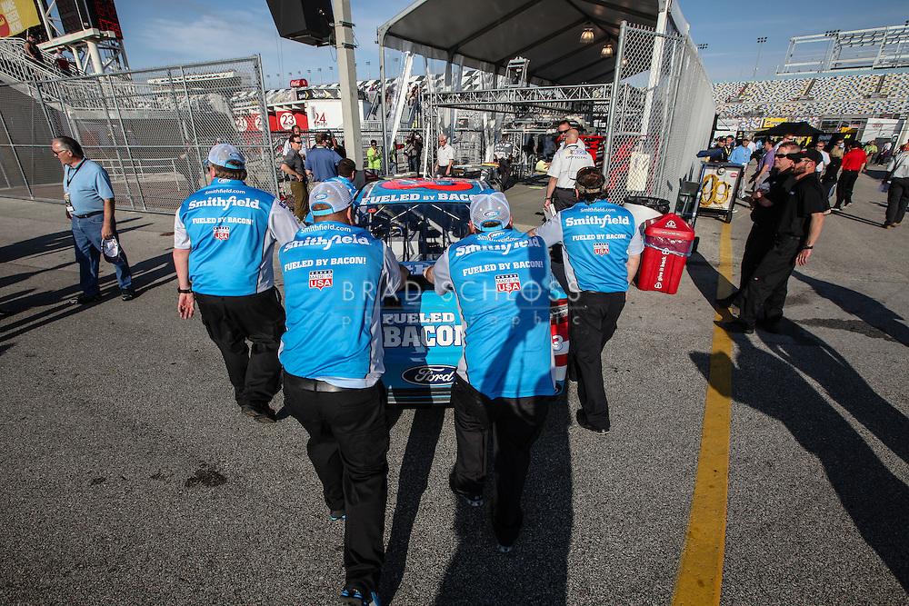 February 23, 2014:  The 56th Annual Daytona 500 at Daytona International Speedway in Daytona Beach, FL.
