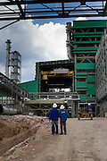 6 November 2008, Chingola, Copperbelt, ZAMBIA. The largest copper smelter in Africa recently went into production at Konkola Copper Mine and along with the installation of a new winder to access copper up to 1600 metres under the surface, brings their recent investment to USD 1.2 billion.