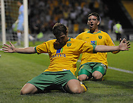 Yeovil - Tuesday, August 11th, 2009: Grant Holt of Norwich City celebrates his goal during the Carling Cup 1st Round match at Yeovil. (Pic by Alex Broadway/Focus Images)