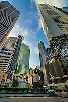 Raffles Place featuring Progress & Advancement Sculpture