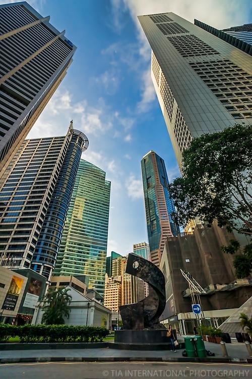 Raffles Place featuring Progress & Advancement Sculpture
