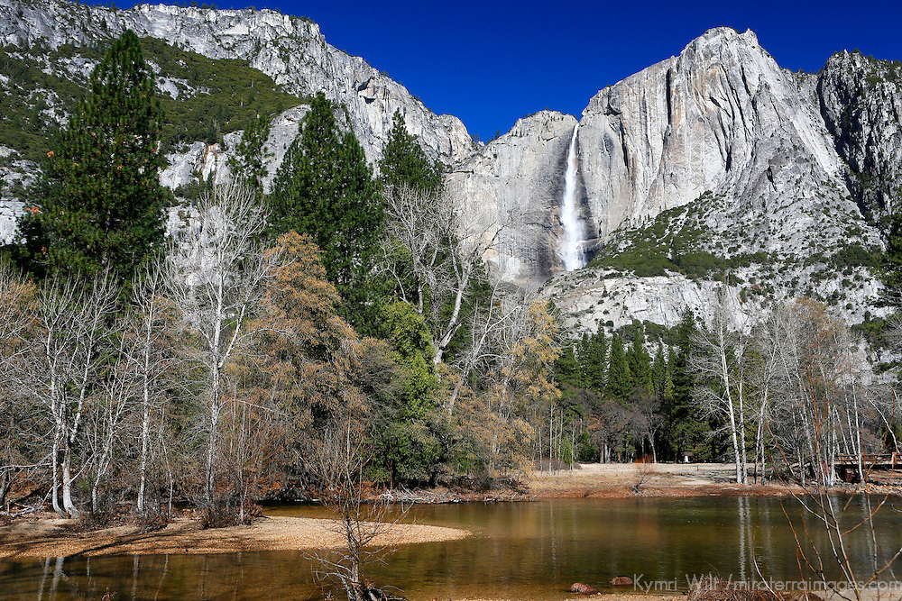 USA, California, Yosemite National Park. Yosemite Falls and landscape of Yosemite Valley.