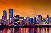 Portland Skyline during Sunset