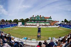 LIVERPOOL, ENGLAND - Saturday, June 23, 2018: A general view of Vera Zvonareva (RUS) v Alexandra Cadantu (ROU) during day three of the Williams BMW Liverpool International Tennis Tournament 2018 at Aigburth Cricket Club. (Pic by Paul Greenwood/Propaganda)