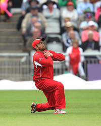 Stephen Parry of Lancashire Lightning catches out Paul Collingwood of Durham Jets (Not Pictured) - Mandatory by-line: Jack Phillips/JMP - 23/07/2017 - CRICKET - Emirates Old Trafford - Manchester, United Kingdom - Lancashire Lightning v Durham Jets - Natwest T20 Blast